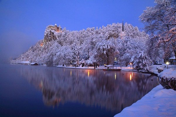 Winter wedding in Europe - Bled Castle