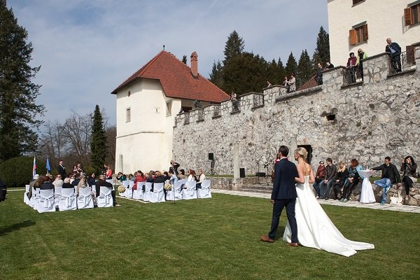 Wedding ceremony at Castle Strmol_Slovenia - Castle wedding